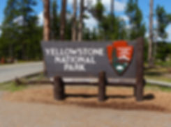 Yellowstone National Park panneau