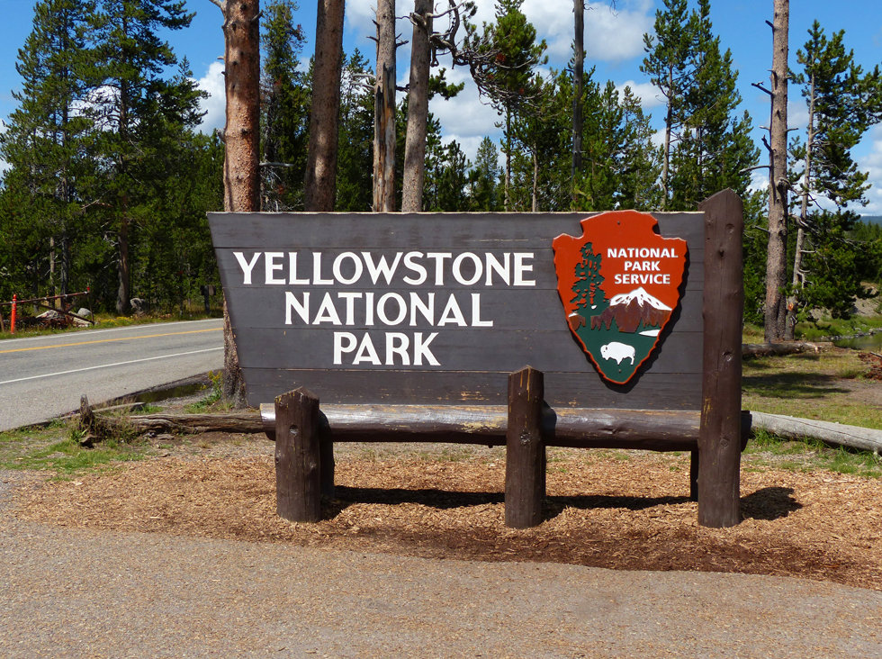Yellowstone National Park panneau