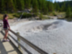 Yellowstone National Parc Artists Paint Pots mudpot
