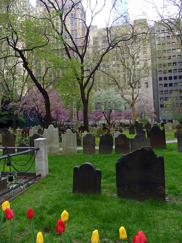 New-Yok - Trinity Church cimetière
