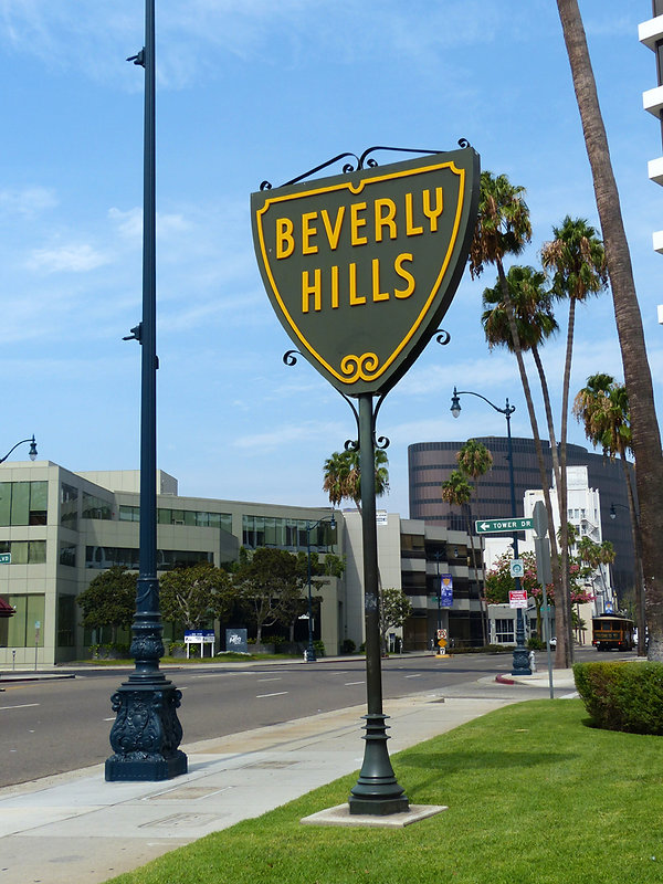 Los Angeles Beverly Hills panneau