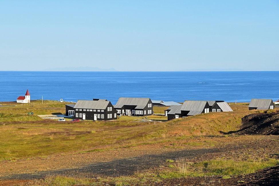 Islande Hellnar maisons noires