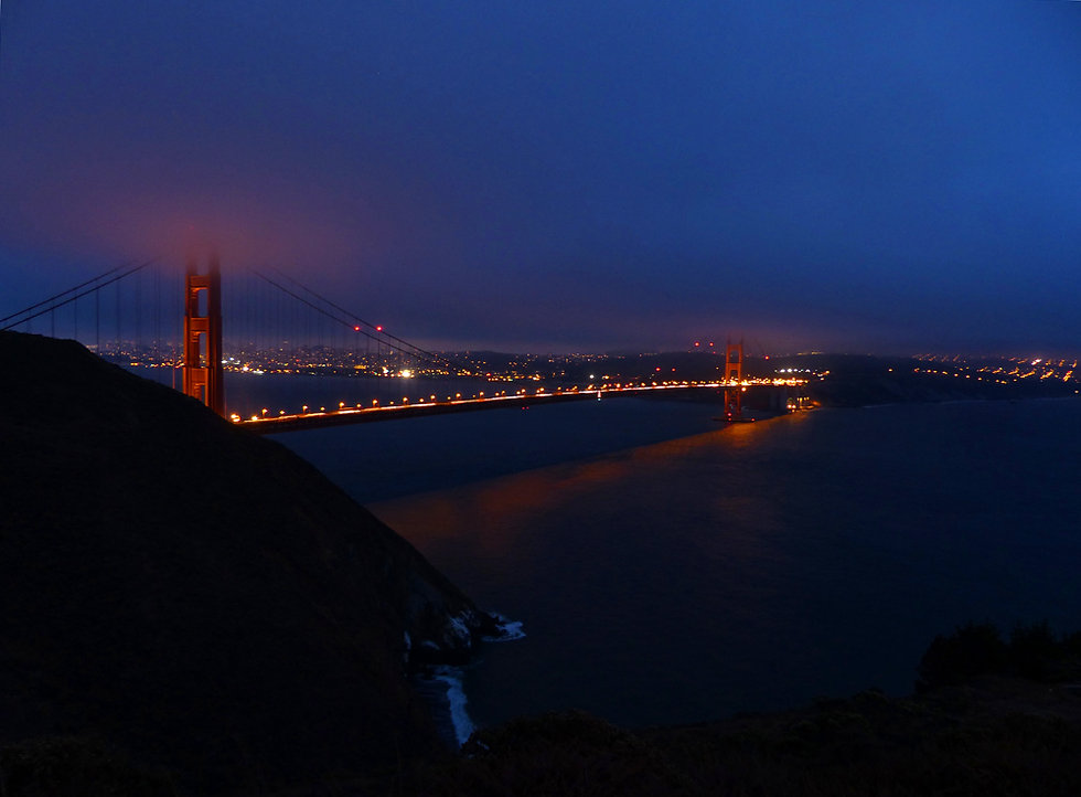 Golden Gate Bridge night