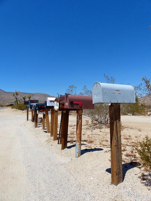 Boites aux lettres américaines désert
