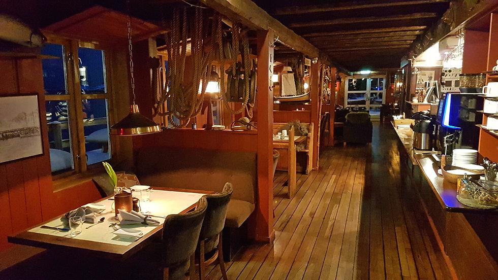 Norvège - Nyvågar Rorbuhotel - restaurant
