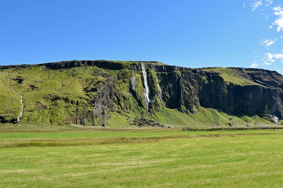 cascade islande iceland waterfall south coast côte sud