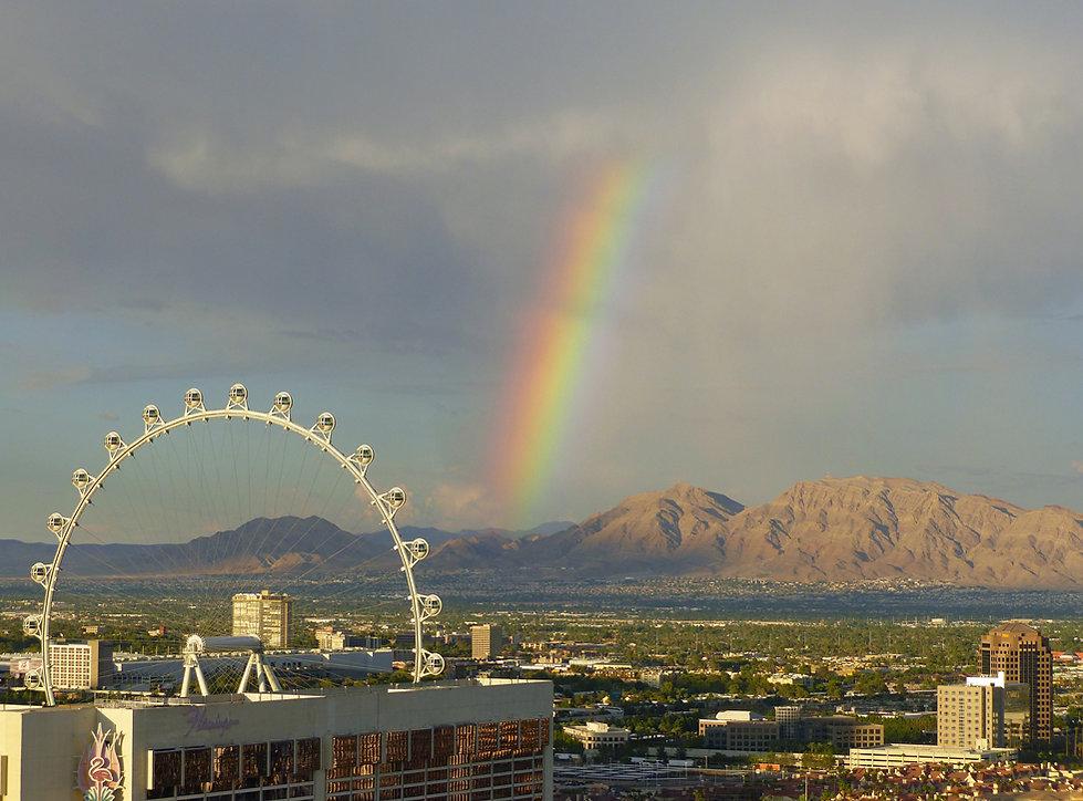 Las Vegas Bellagio grande roue arc en ciel