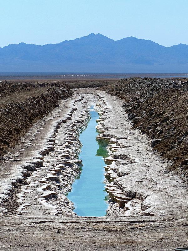 Desert mojave bristol lake bassin évaporation sel