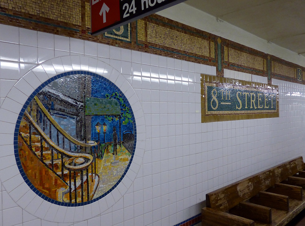 New-York - Subway mosaiques