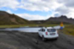 iceland island f208 gué rivière duster