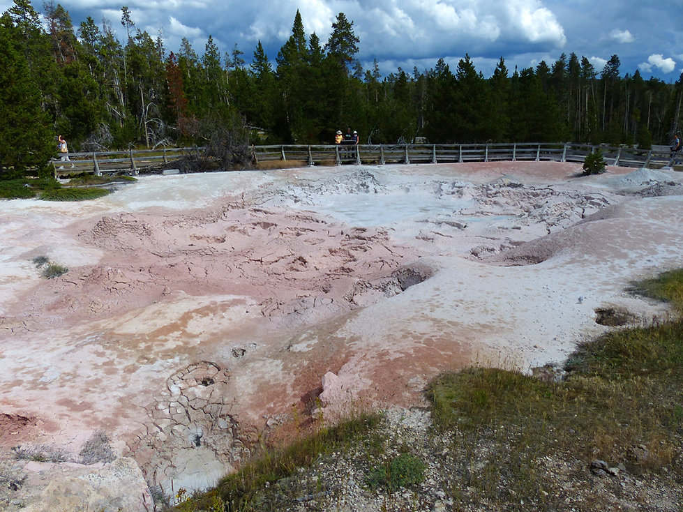 Yellowstone National Park Lower Geyser Basin Fountain Paint Pot