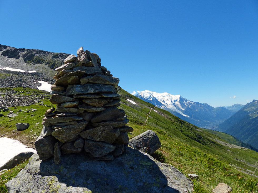 Chamonix - Refuge Albert 1er - Cairn