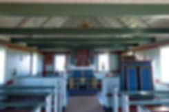 Islande péninsule Snaefellsnes église bois Búdakirkja intérieur