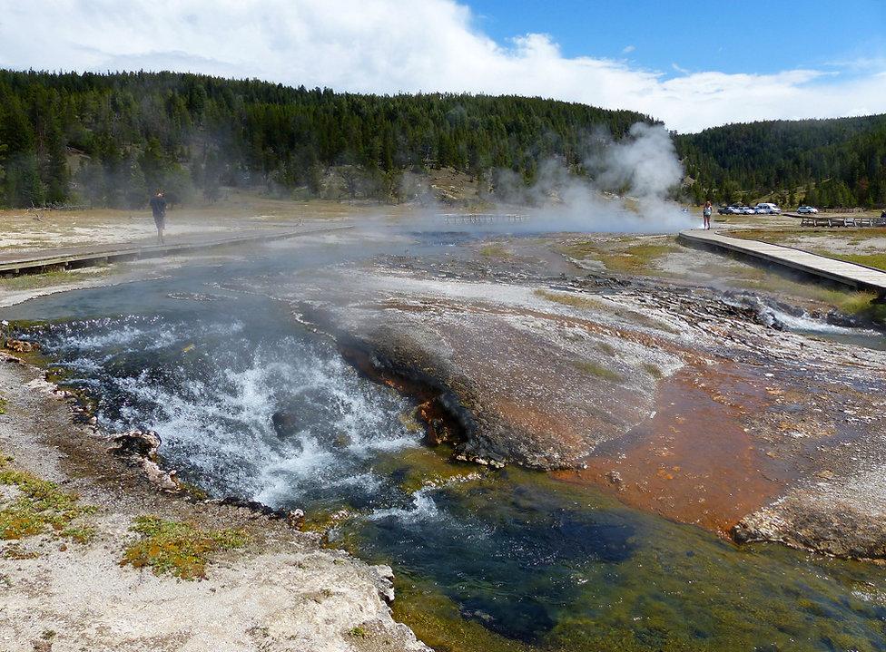 Yellowstone National Park Firehole Lake Drive Hot Cascades