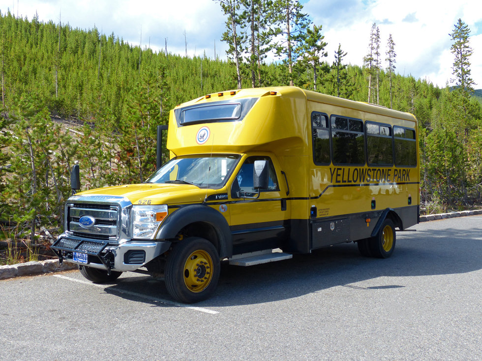 Yellowstone National Park Bus Yellow