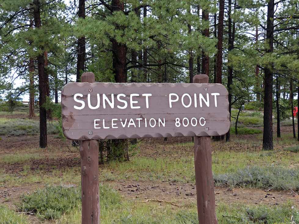 Bryce Canyon National Park Sunset Point panneau