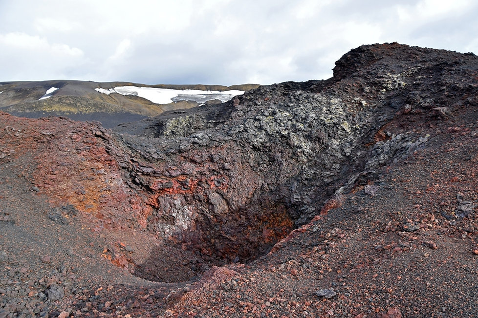 champ lave coulée Askja lava field eruption 1961 cratère crater