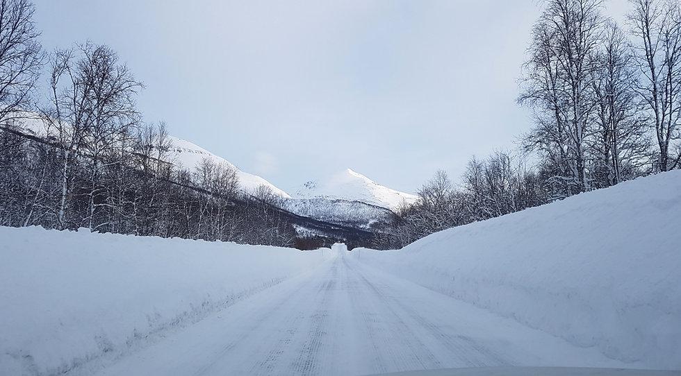 Norvège - route hiver