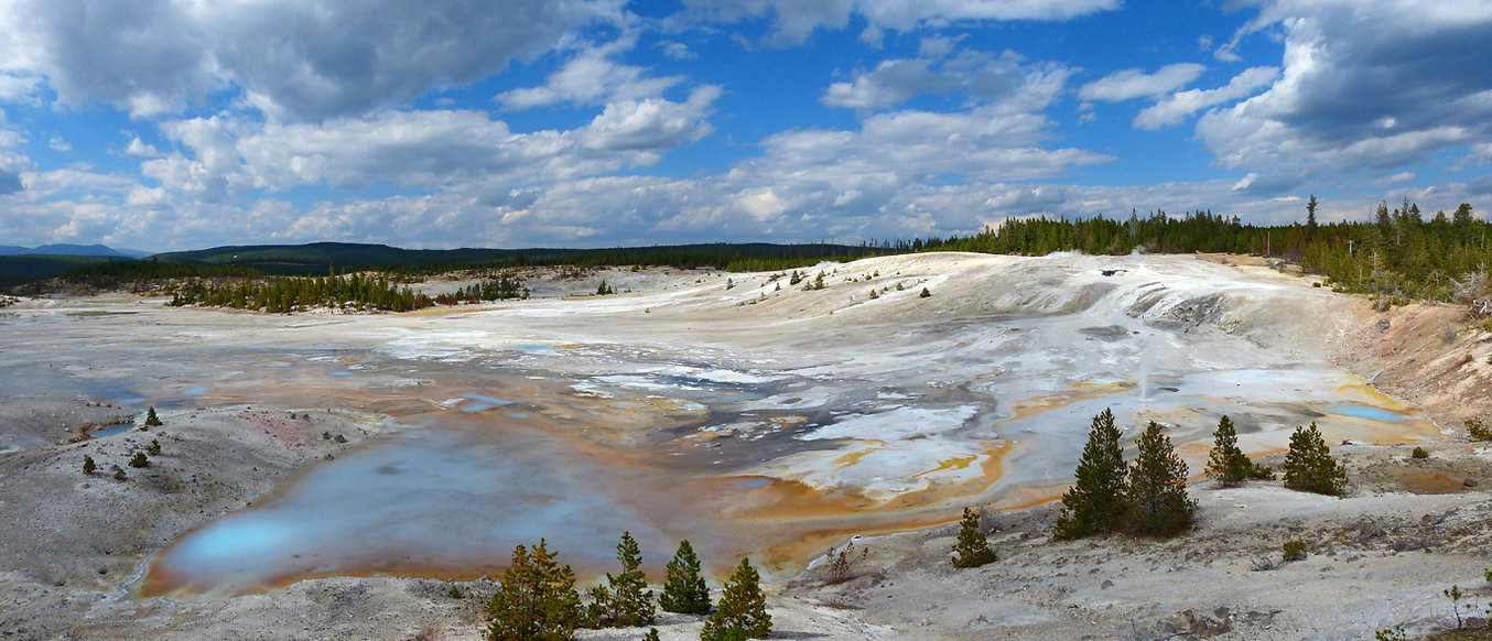 Yellowstone National Parc Norris Geyser Basin Porelain Spring