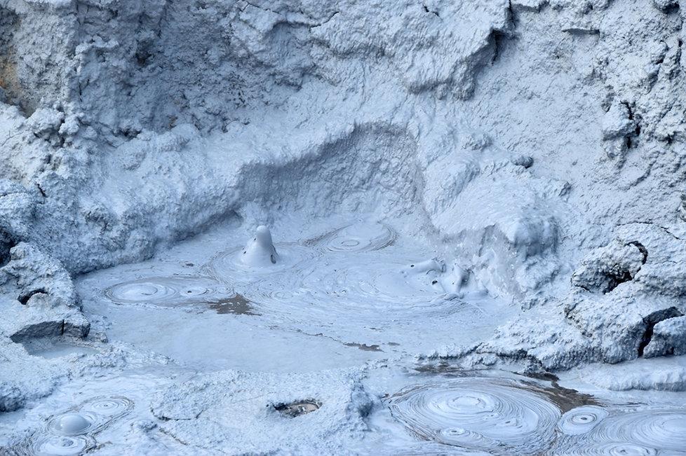 Islande Iceland Myvatn Hverir géothermique  mare boue