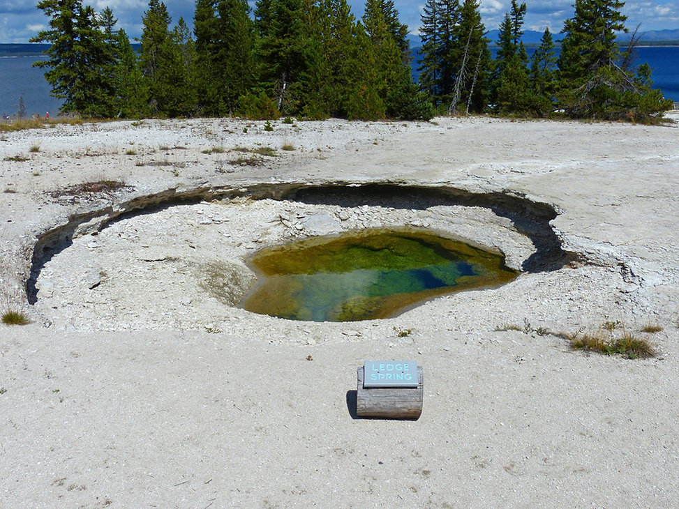 Yellowstone National Park West Thumb Geyser Basin Ledge Spring