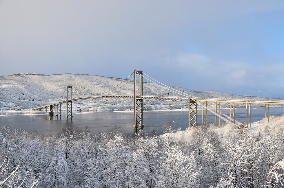 Norvège - Tjeldsund - Hinnøya - pont
