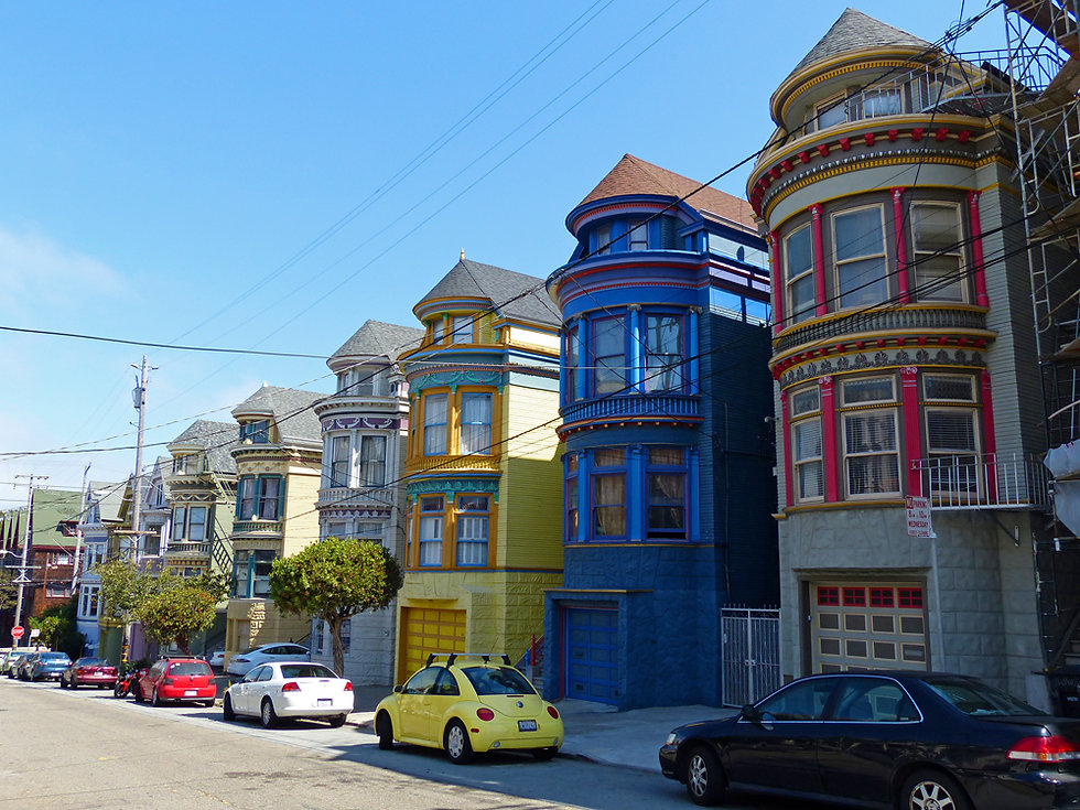 San Francisco - Haight Ashbury - maisons victoriennes