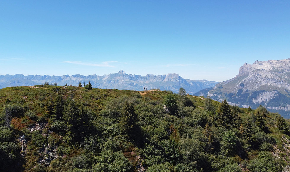 Chamonix - les Houches - randonnée - prarion - drone