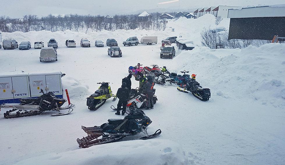 Finlande - Kilpisjärvi - Motoneige