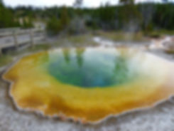 Yellowstone National Park Upper Geyser Basin Morning Glory Pool
