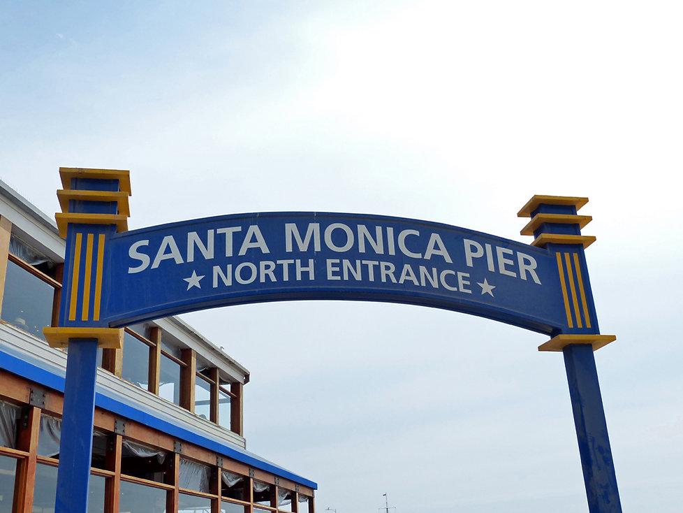 Los Angeles Santa Monica pier north entrance panneau