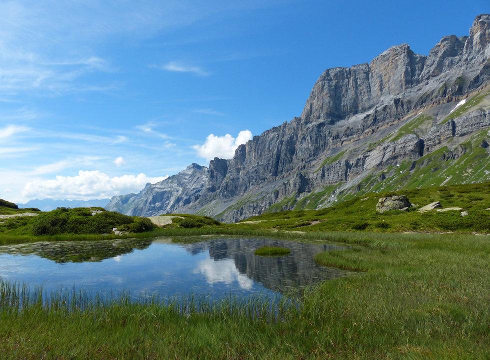 Lac de Pormenaz - rocher des fiz