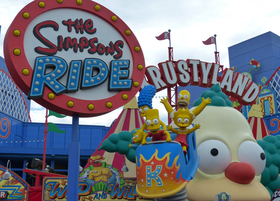 Universal Studios Hollywood The Simpsons Ride