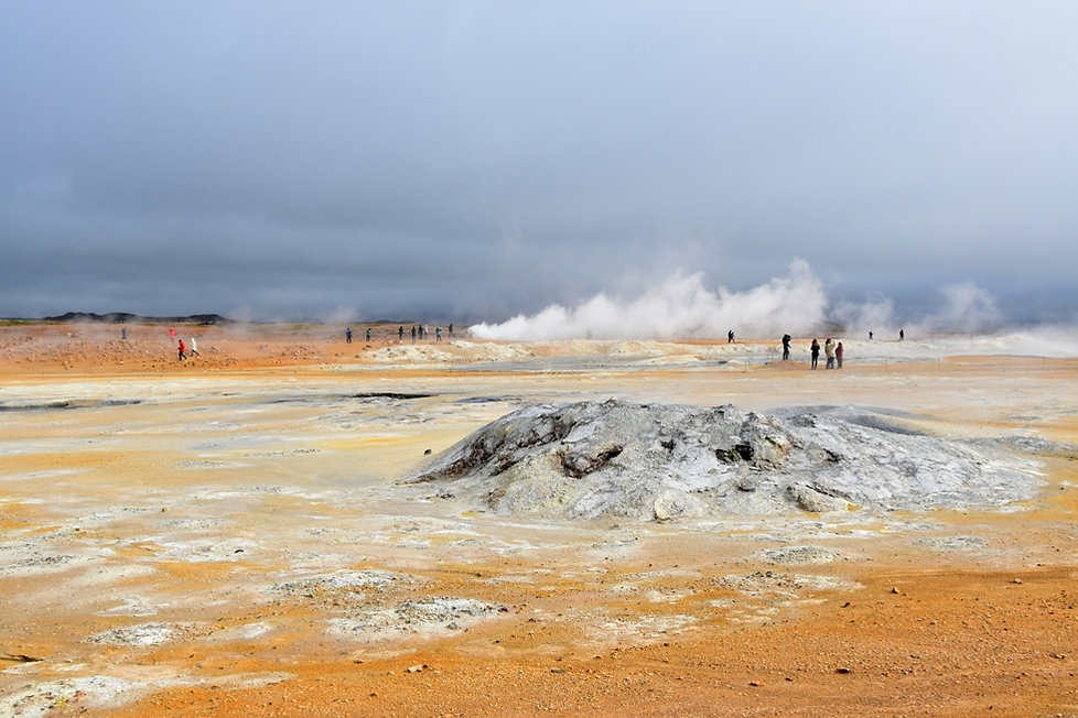 Islande Iceland Myvatn Hverir géothermique Namafjall fumerolle mare boue soufre