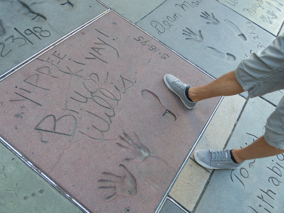 Grauman's Chineese Theate Hollywood Boulevard Bruce Willis