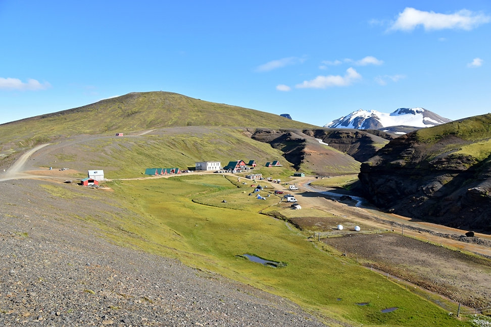 Islande piste F347 refuge camping Kerlingarfjöll