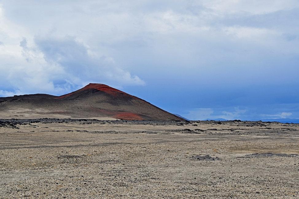 Piste F910 Askja hautes terres Ódádahraun volcan rouge