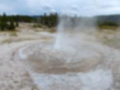 Yellowstone National Park Upper Geyser Basin Tardy Geyser