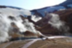 Islande massif Kerlingarfjöll fumerolles pont