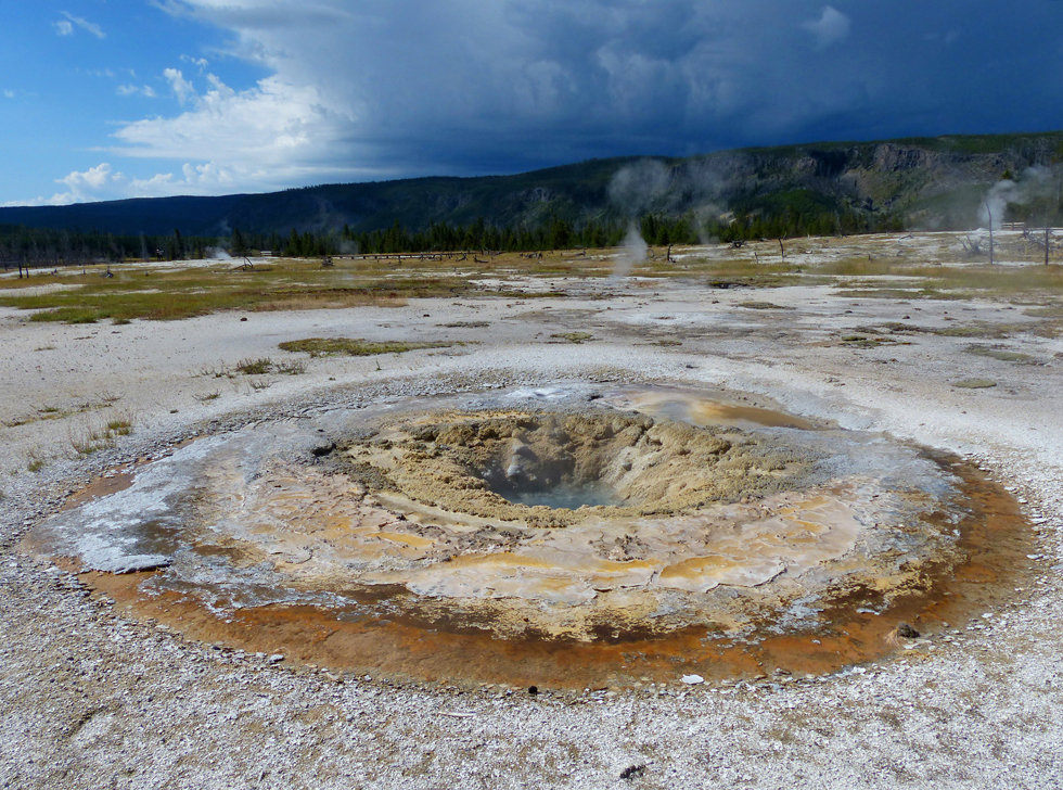 Yellowstone National Park Biscuit Basin East Mustard Spring
