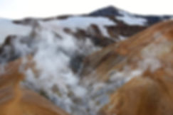Islande massif Kerlingarfjöll geothermique fumerolles