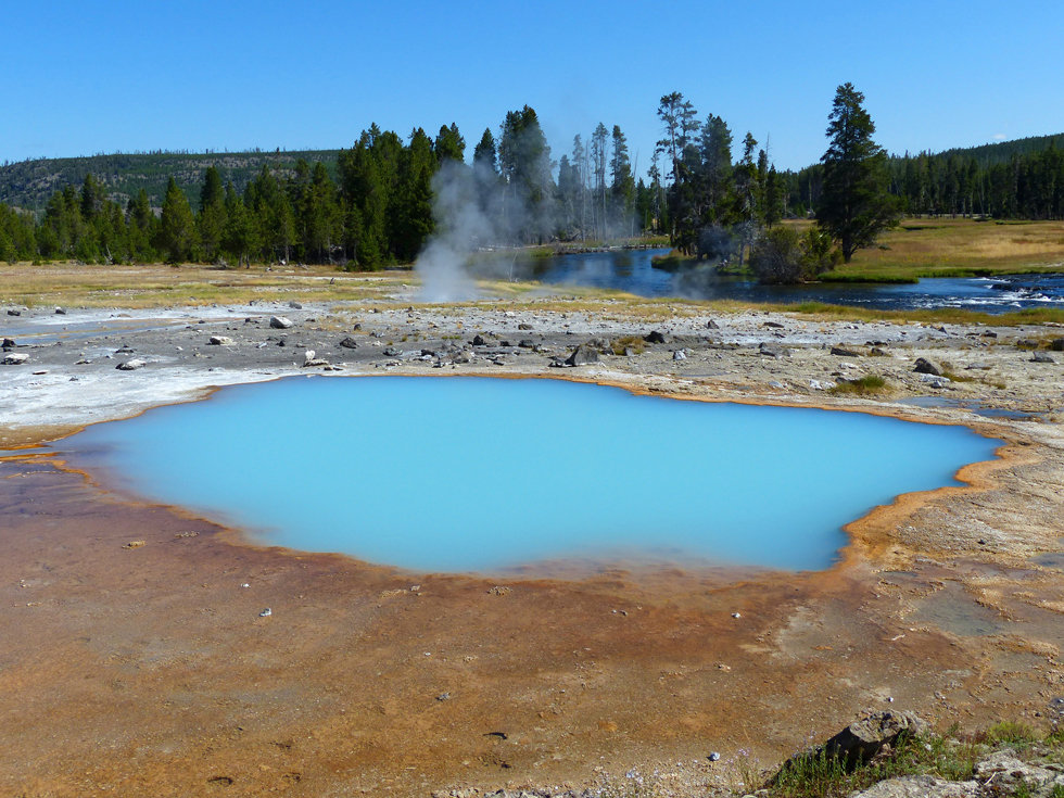 Yellowstone National Park Biscuit Basin Black Opal Spring