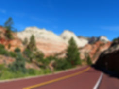 Zion National Park road route east