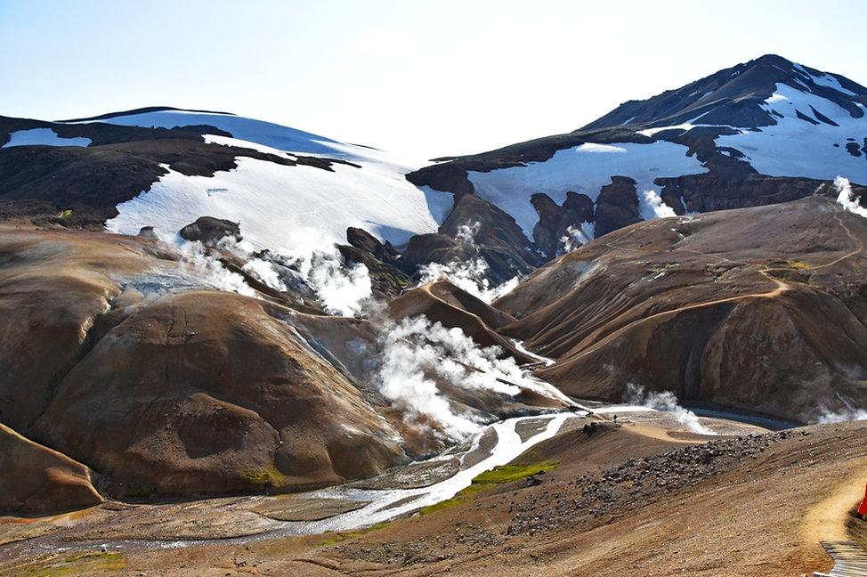 Islande massif Kerlingarfjöll fumerolles