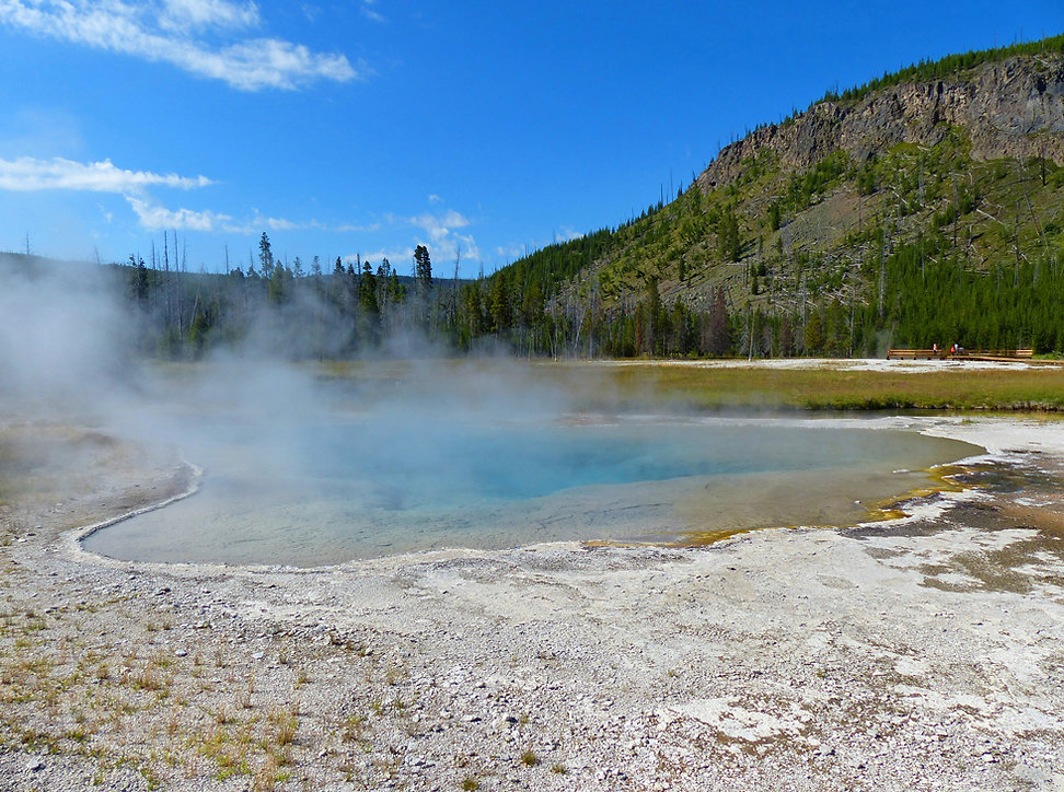 Yellowstone National Park Black Sand Basin Green Spring