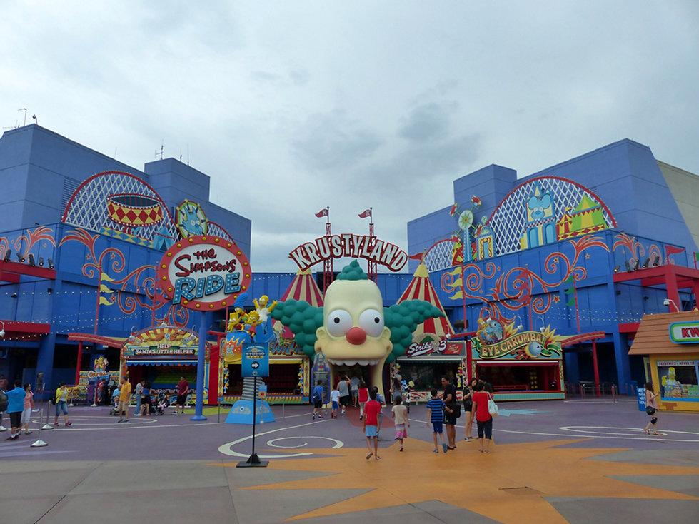 Universal Studios Hollywood Krustyland The Simpsons Ride