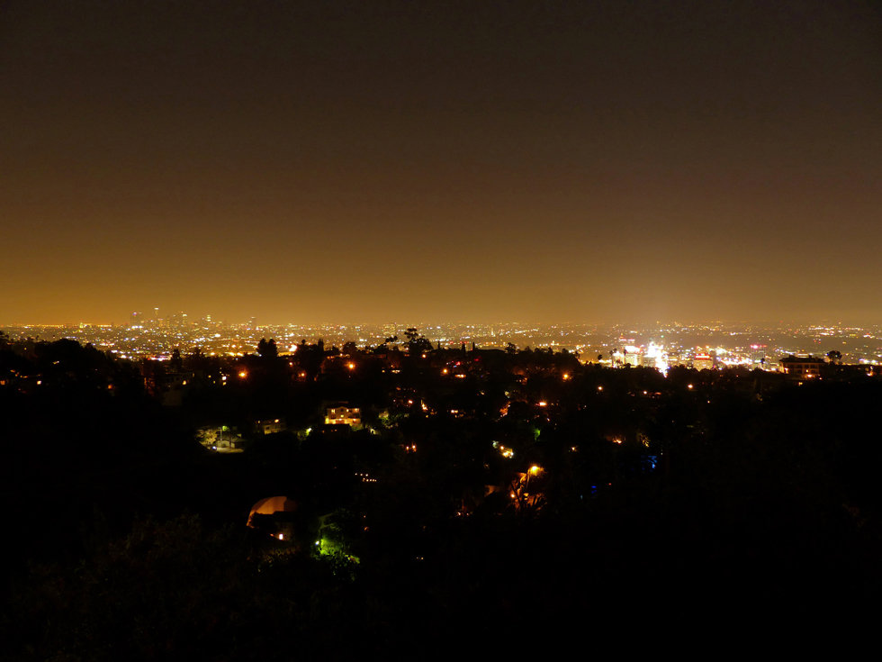 Hollywood Hills Los Angeles nuit night paysge landscape