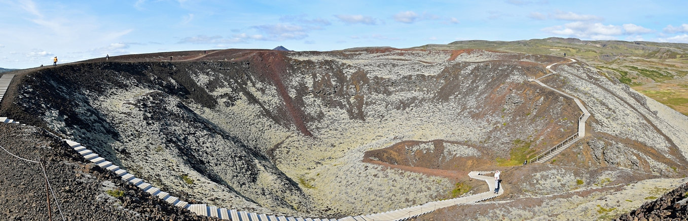 Islande volcan cratère Grábrók