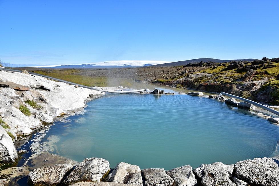 Islande zone géothermique Hveravellir source chaude piscine bassin baignade