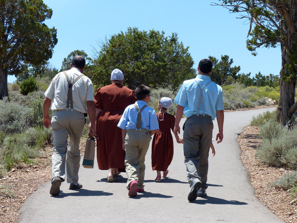 Grand Canyon national park amish famille